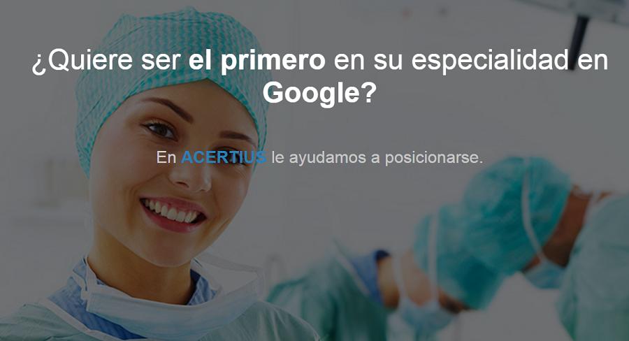 ¿Eres médico? Te ayudamos a posicionarte en Google con tu especialidad médica