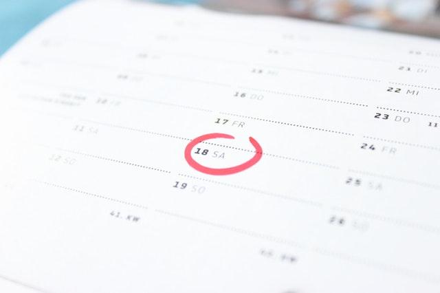 El calendario fiscal de 2019